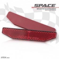 """Catadioptre """"Space"""" rouge adhésif"""