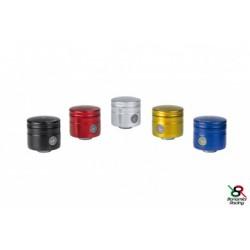 Réservoir d\'huile pour frein / embrayage 24 ml jaune raccord 45° Bonamici Racing