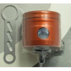 Réservoir d'huile pour frein / embrayage 24 ml orange raccord 0° Bonamici Racing