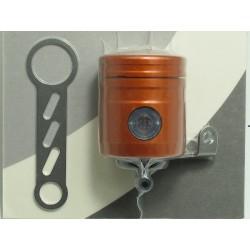 Réservoir d'huile pour frein / embrayage 12 ml orange raccord 90° Bonamici Racing