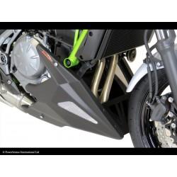Sabot moteur Powerbronze noir mat grille argent Kawasaki Z650 17/+