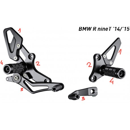 Fussrastenanlage Bonamici Racing für BMW R NineT 14 / +