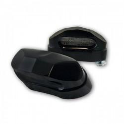 Eclairage de plaque d\'immatriculation LED Moto-parts Noir Aluminium avec réhausseur 5mm