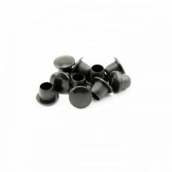 Cache trou plastique noir 10 mm la paire