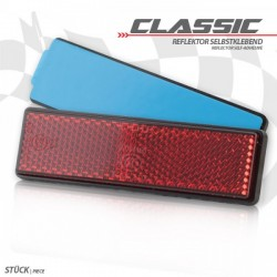 """Reflector \""""Classic\"""" red adhesive"""