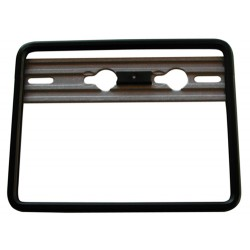 Black support of aluminium sheet for motorcycle