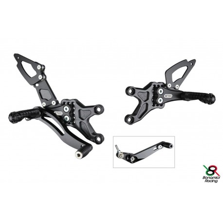 Rear Sets Race Bonamici Racing for Honda CBR 600 RR 07 / 17