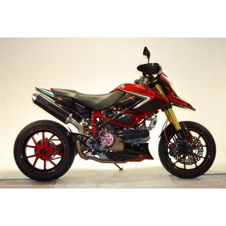 Auspuff Spark Oval Carbon - Ducati Hypermotard 796 09-12