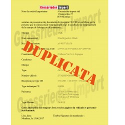 Swiss certificate for exhaust LeoVince