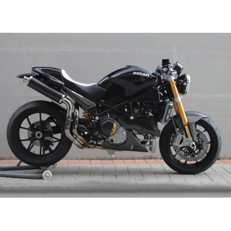 Echappement Spark rond Carbon - Ducati Monster S4R 03-06 / S2R 800-1000