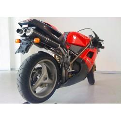 Auspuff Spark Oval carbon für Ducati 748 (95-98) / 916 (94-98)