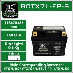 Batterie BC au lithium BCTX7L-FP-S