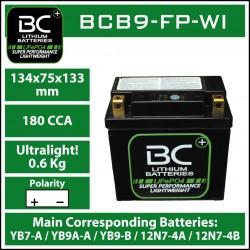 Batterie BC au lithium BCB9-FP-WI
