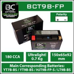 Batterie BC au lithium BCT9B-FP