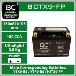 Batterie BC au lithium BCTX9-FP