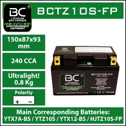 BC Lithiumbatterie BCTZ10S-FP