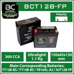 Batterie BC au lithium BCT12B-FP