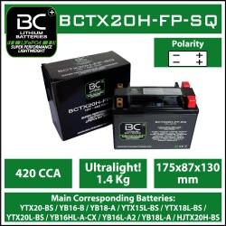 Batterie BC au lithium BCTX20H-FP-SQ