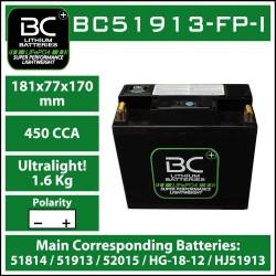 Batterie BC au lithium BC51913-FP-I
