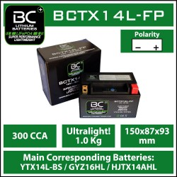 Batterie BC au lithium BCTX14L-FP