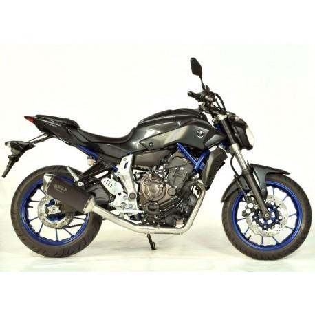 Auspuff Spark Force Dark Style High Mounting - Yamaha MT-07 14-16