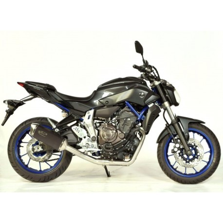 Exhaust Spark Force Dark Style High Mounting - Yamaha MT-07 14-16