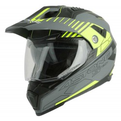 Casque Astone Crossmax S-Tech Gris/jaune