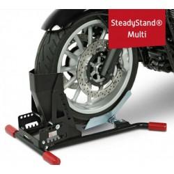 """Pied Atelier \""""Steadystand Multi\"""", noir, largeur de pneu de 90 à 200 mm, pneus Ø 15-21 pouces"""
