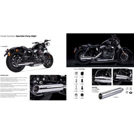 Echappement Ironhead Chrome - Harley-Davidson Sportster XL 883 / 1200 04-13
