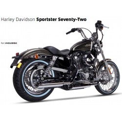 Auspuff Ironhead Chrome - Harley-Davidson Sportster XL 883 / 1200 04-13