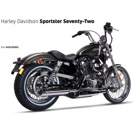 Exhaust Ironhead Chrome - Harley-Davidson Sportster XL 883 / 1200 04-13