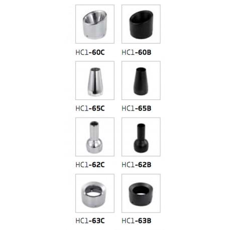 End caps conical Ironhead HC1-65B black