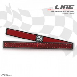"Reflector \""Line\"" rectangular red"