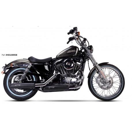 Auspuff Ironhead schwarz - Harley-Davidson Sportster XL 883 / 1200 04-13