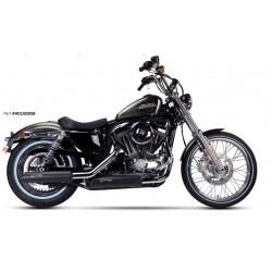 Auspuff Ironhead schwarz - Harley-Davidson Sportster XL 883 / 1200 14-16
