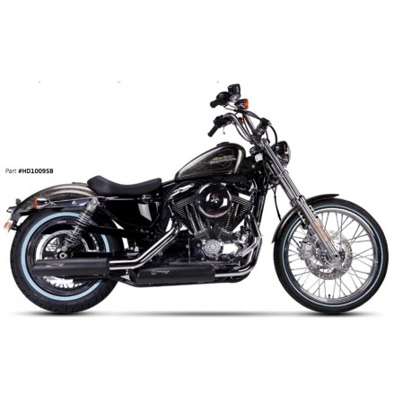 Exhaust Ironhead black- Harley-Davidson Sportster XL 883 / 1200 14-16