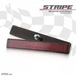 "Catadioptre ""Stripe\"" rectangulaire rouge"