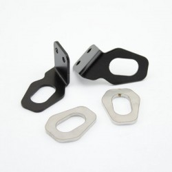 Moto-parts Bracket for Honda , using original indicators, black