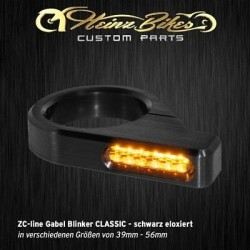 Heinz Bikes ZC-line LED turn signals Black for fork mounting Classic