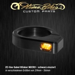Heinz Bikes ZC-line LED turn signals Black for fork mounting Micro