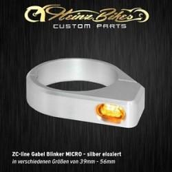 Heinz Bikes ZC-Line clignotants Micro Gris pour fourche