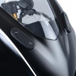 R&G RACING Mirror Blanking Plate Black Yamaha YZF-R125 19/+