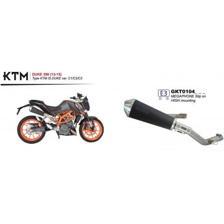 Echappement Spark Megaphone Dark Style pour KTM DUKE 390 13-16