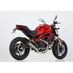 Auspuff Shark TRC-10 für Ducati Monster 797 17-20 | Silber