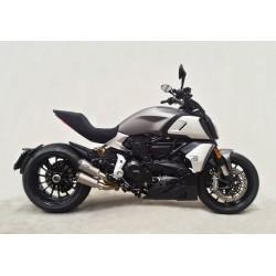 Komplettanlage (2-2) Shark TRC-10 für Ducati Diavel /S 1260 19-20 // Xdiavel /S 1260 18-20 | Silber
