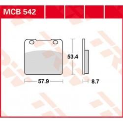 Plaquettes de frein TRW / Lucas MCB634