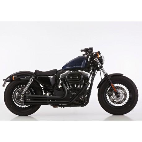 Ligne complète Falcon Double Groove noir - Harley-Davidson Sporster 883 / 1200 14/+