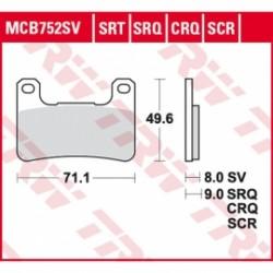 Scheibenbremsbeläge Vor TRW / Lucas MCB752CRQ