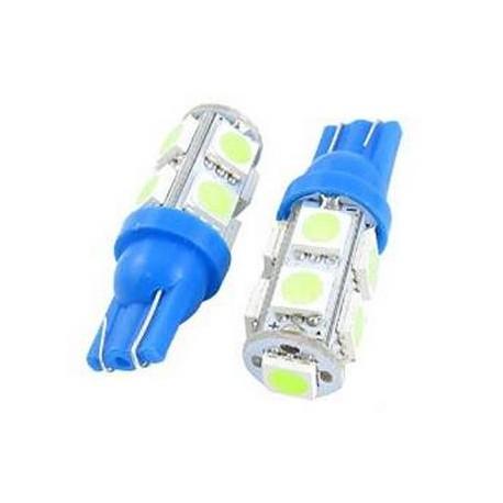 Ampoule LED T 10 w5w bleu