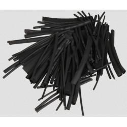 Ensemble de tubes rétractables 100 pièces - noir / 100mm // Tailles: Ø1,5 - Ø2,5 - Ø4,0 - Ø6,0 - Ø10,0 - Ø13,0